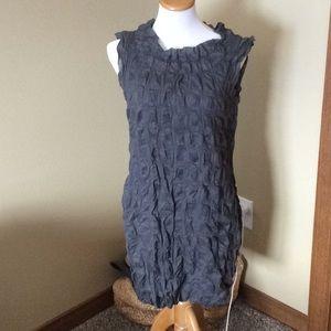Classy J.Crew Sleeveless Dress in Charcoal